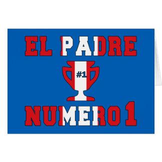 Tarjeta EL Padre Número 1 - papá del número 1 en Peruvian