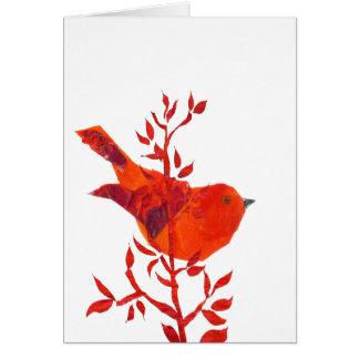 Tarjeta El pájaro rojo más lindo en el planeta