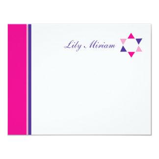 Tarjeta El palo moderno Mitzvah de la estrella le agradece