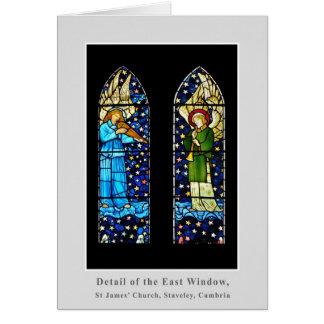 Tarjeta El panel del vitral de William Morris