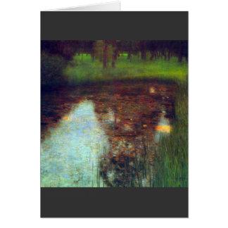 Tarjeta El pantano de Gustavo Klimt