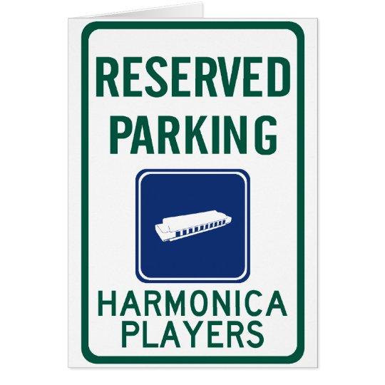 Tarjeta El parquear de los jugadores de la armónica