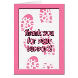 Tarjeta El paseo rosado del cáncer de pecho le agradece
