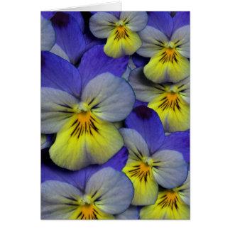 Tarjeta El pensamiento salvaje azul y amarillo le agradece