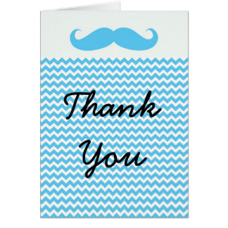 Tarjeta El pequeño bigote del hombre de Lil le agradece