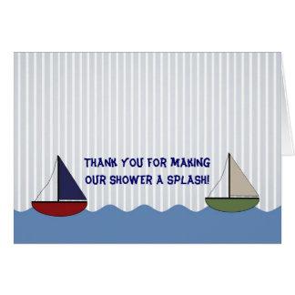 Tarjeta El pequeño doblar de los barcos le agradece