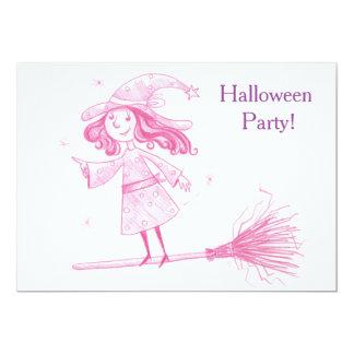 Tarjeta El pequeño fiesta de Halloween de la BRUJA invita