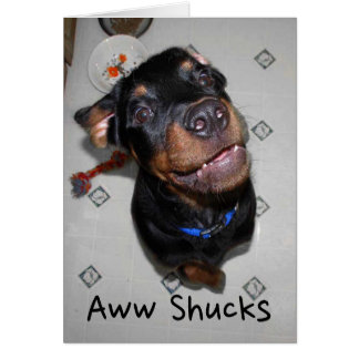 Tarjeta El perrito sonriente de Rottweiler le agradece