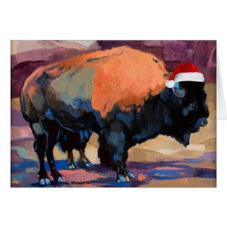 Tarjeta El personalizable del bisonte del navidad