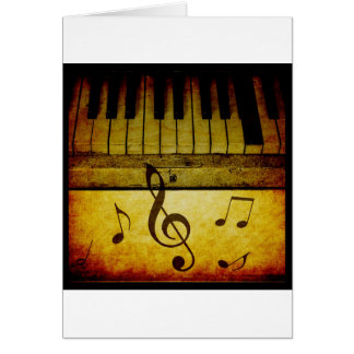 Tarjeta El piano cierra el vintage