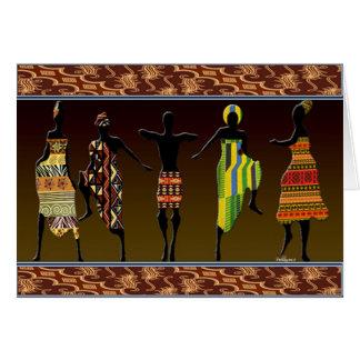 Tarjeta El pie tribal africano pisa fuerte