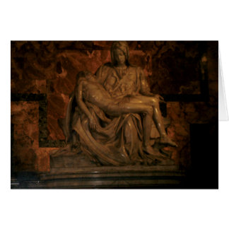 Tarjeta El Pieta de Miguel Ángel