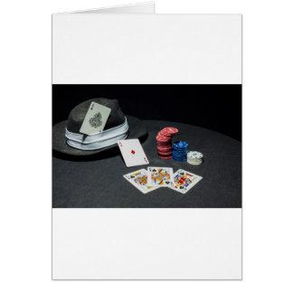 Tarjeta El póker carda el gorra del gángster