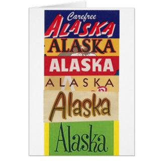 Tarjeta El poster del viaje de Alaska le agradece cardar