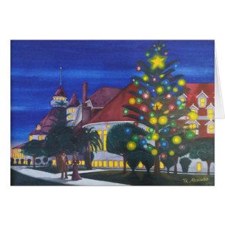 Tarjeta El primer árbol de navidad al aire libre 1904 del