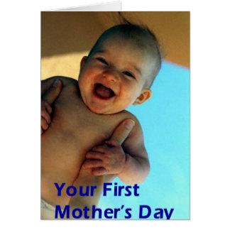 Tarjeta El primer día de madre