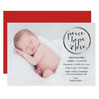 Tarjeta El primer navidad del bebé, invitación,