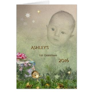 Tarjeta El primer navidad del bebé (personalizable)