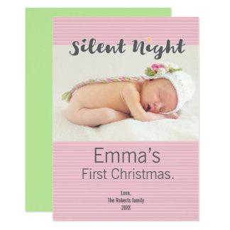 Tarjeta El primer navidad del bebé personalizó la foto,