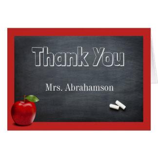 Tarjeta El profesor de encargo le agradece