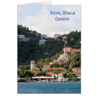 Tarjeta El pueblo de Kioni en Ithaca, Grecia