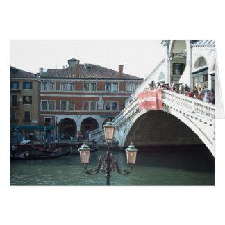 Tarjeta El puente de Rialto, Venecia