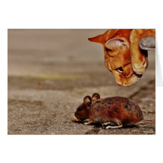 Tarjeta El ratón del gato que le faltaba nos dejó comer el