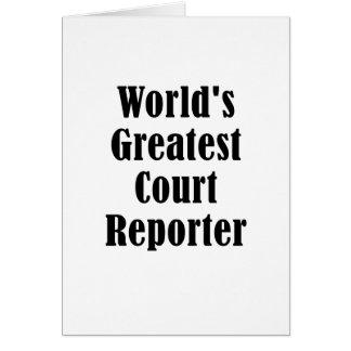 Tarjeta El reportero de corte más grande de los mundos