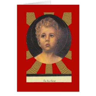 Tarjeta El retrato de Cristo del muchacho