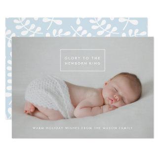 Tarjeta El rey recién nacido Holiday Photo Card