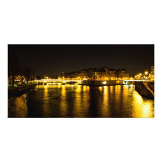 Tarjeta El río Sena que cruza la ciudad de París