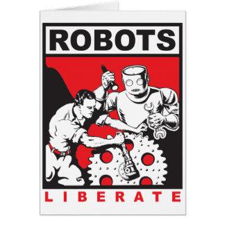 Tarjeta El robot le fija libre