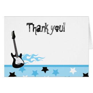 Tarjeta El rock-and-roll doblado le agradece las notas