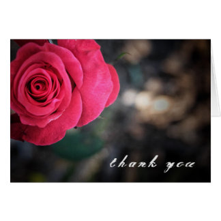 Tarjeta El rosa elegante le agradece cardar