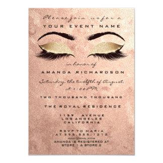 Tarjeta El rosa rosado se ruboriza los ojos del maquillaje