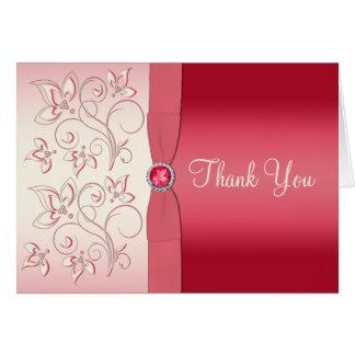 Tarjeta El rosa y la marfil de la sandía le agradecen