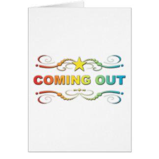Tarjeta el salir: flourish del arco iris