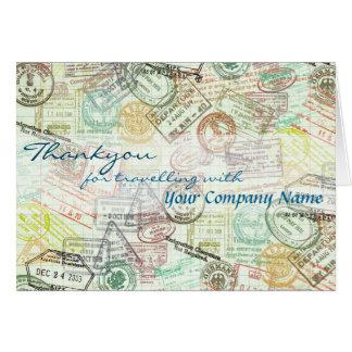 Tarjeta El saludo del viaje del sello del pasaporte
