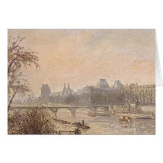 Tarjeta El Sena y el Louvre, 1903