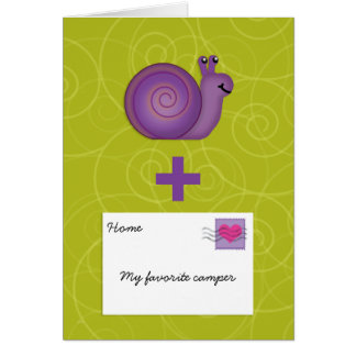 Tarjeta El snail mail para el chica o el muchacho en el