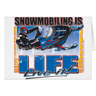 Tarjeta El Snowmobiling es vida viva él