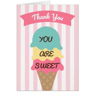 Tarjeta El Social dulce del helado le agradece cardar