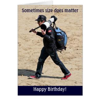 Tarjeta ¡El tamaño importa a veces - feliz cumpleaños!