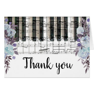 Tarjeta el teclado de piano de la música de las flores del