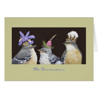 Tarjeta El Tennesseans (tarjeta del mockingbird)