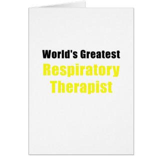 Tarjeta El terapeuta respiratorio más grande de los mundos