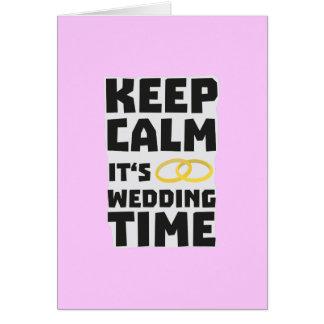 Tarjeta el tiempo del boda guarda Zw8cz tranquilo