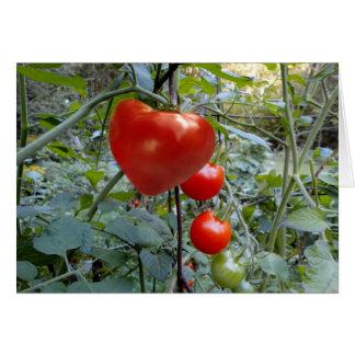 """Tarjeta ¡El tomate en forma de corazón """"ME ESCOGE! """""""