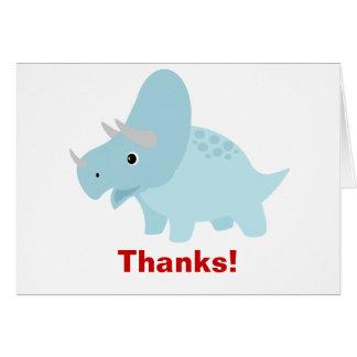 Tarjeta El Triceratops del dinosaurio del bebé le agradece