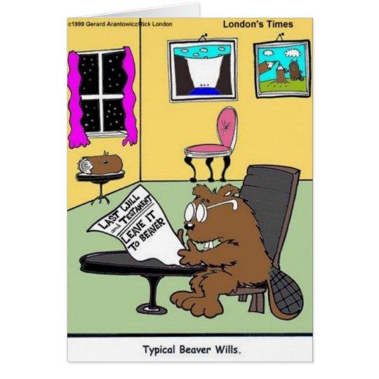 Tarjeta El último típico del castor y testamento